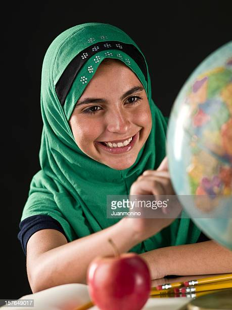 Muslim schoolgirl
