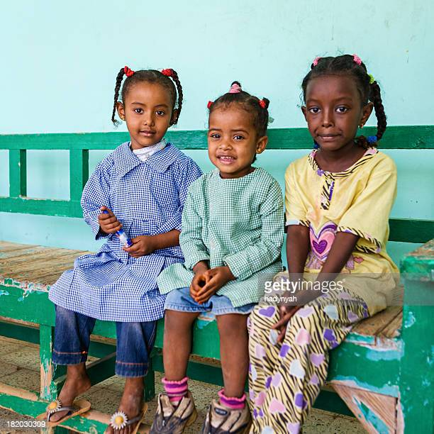 muslim schoolgirls in southern egypt - north africa stock photos and pictures
