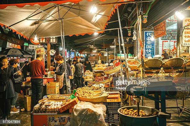 muslim street market in Xi'an, China