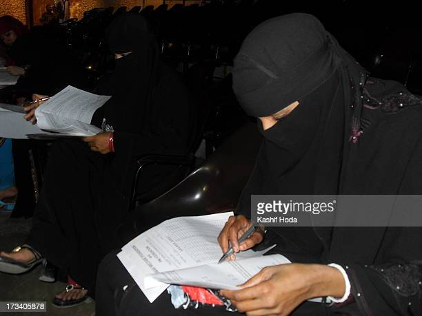 Muslim student in niqaab appear for Human Welfare Foundation's Academic Excellence Awards-2010 function.