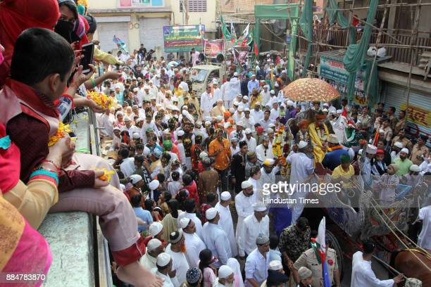 Muslim take part during Eid MiladUnNabi the birth anniversary of Prophet Muhammad the founder of Islam also believed to be a messenger of God by...