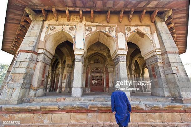 Muslim Tourist entering the gate of Isa Khan Niyazi's Tomb