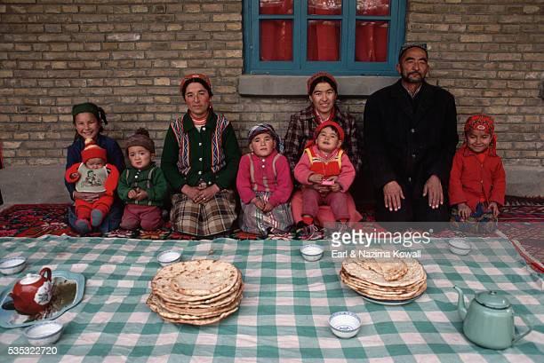 Muslim Uigur Family of Hajji Pilgrim