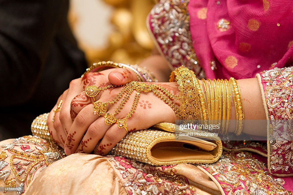Muslim Wedding Hands Stock Photo