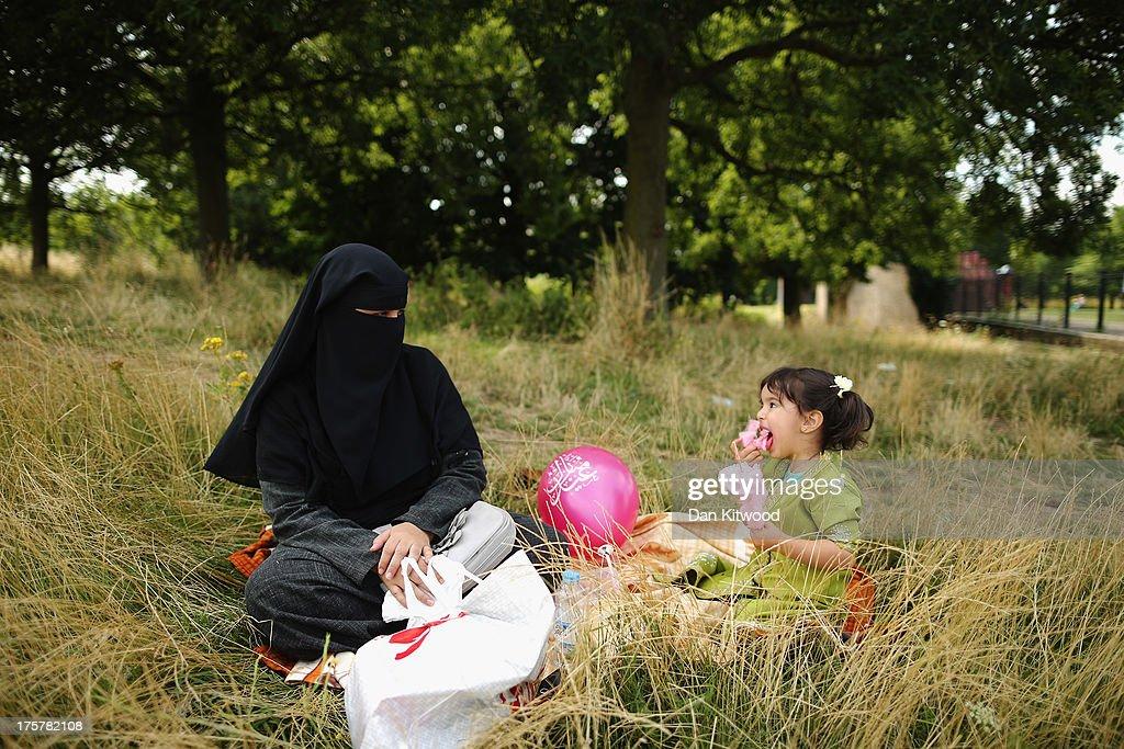 Eid-al-Fitr Celebrated In London : News Photo