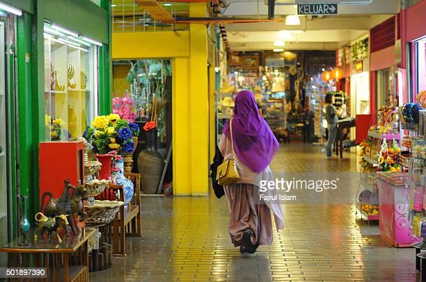Muslim Woman at Shop Center