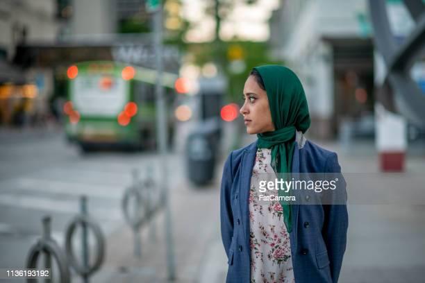 Muslim Woman Downtown
