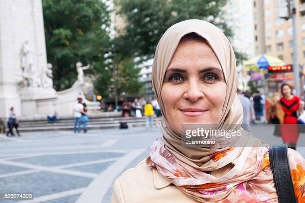 Muslimische Frau im Central Park