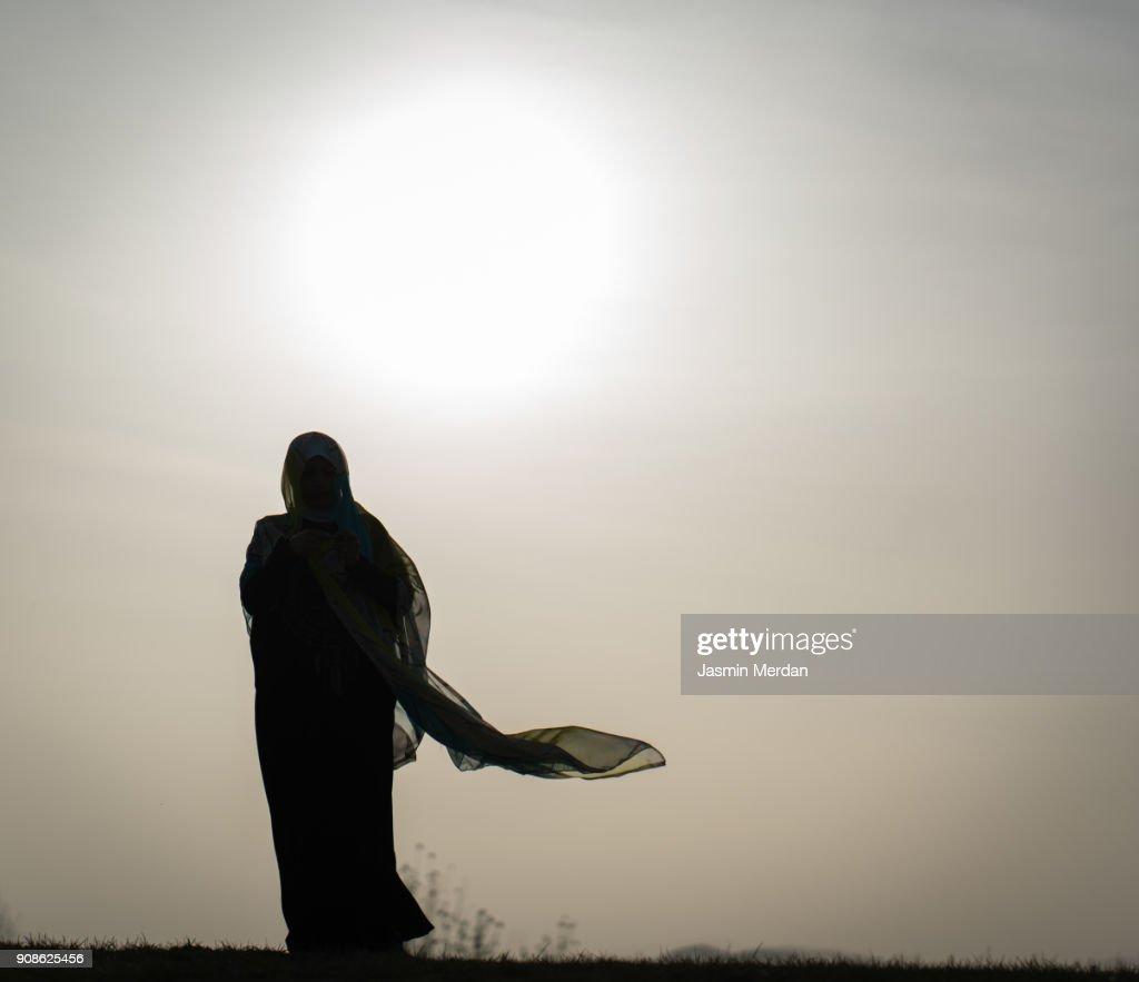 Muslim woman : Stock Photo