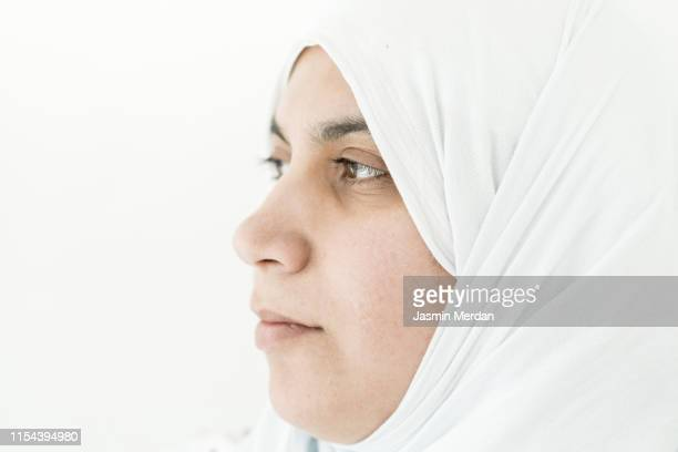 muslim woman portrait - gulf countries stock pictures, royalty-free photos & images