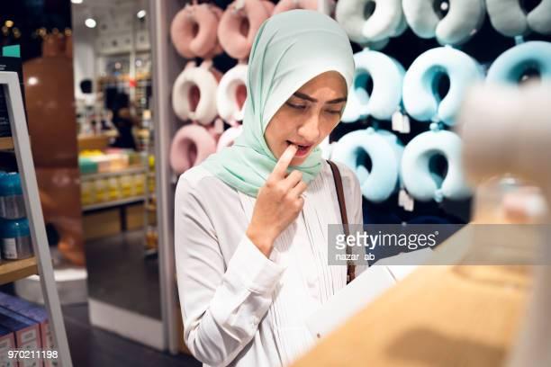 Muslim Woman Shopping.