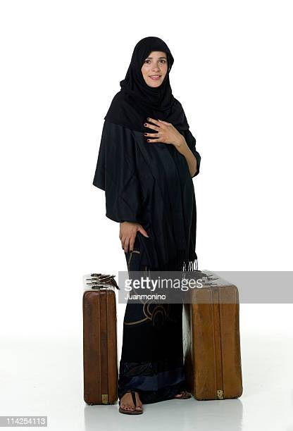 Muslim woman traveling