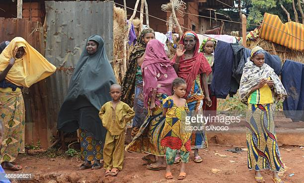 Muslim woman wear the veil in the town of Yaloke north of Bangui on February 2 2014 Around 200 rebel fighters in the Central African Republic who...