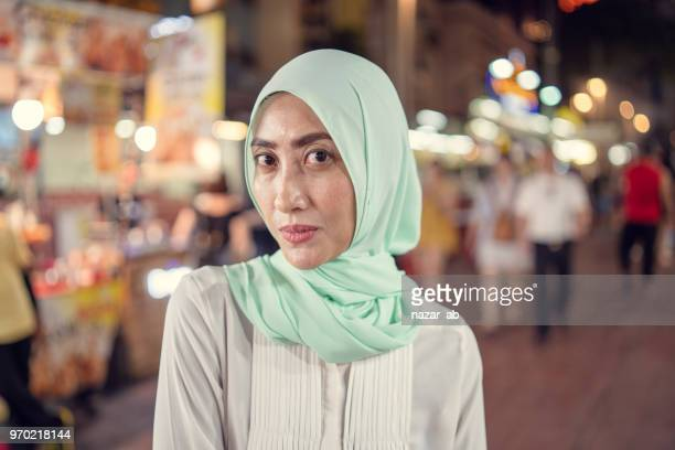 Muslim woman with confidence.