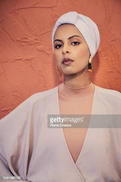 Muslim woman with confident expression