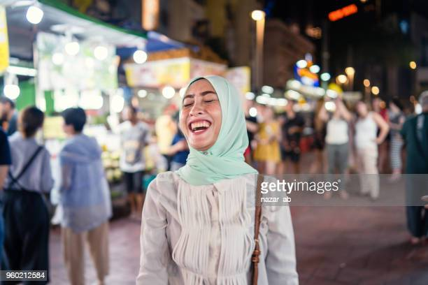 muslim woman with hijab with authentic smile. - lahore pakistan stock pictures, royalty-free photos & images
