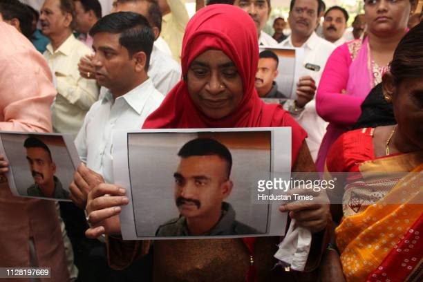 Muslim women gathered at the Tuljabhavani temple to pray for the well being of the Indian Air Force Wing Commander Abhinandan Varthaman who is held...