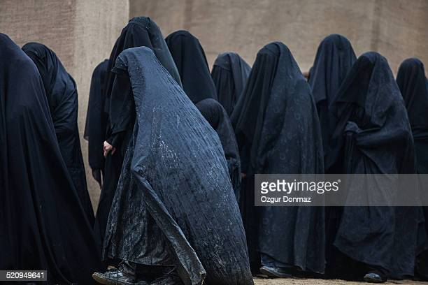 Muslim women in burka