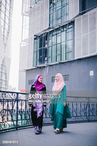 Muslim Women in Hijab in Discussion