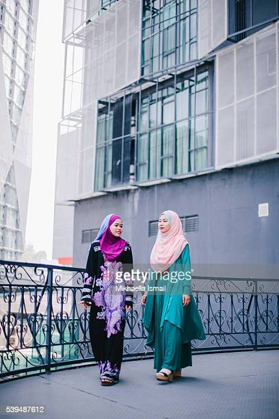 Muslim Women in Hijab in Discussion