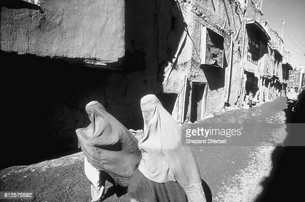 Muslim Women on Street in Kabul