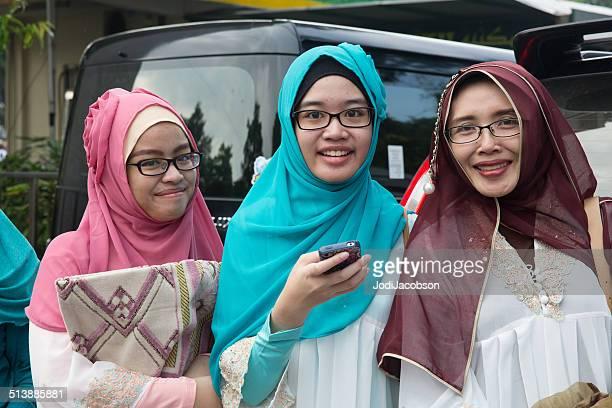 Muslim women on the streets of Jakarta during Ramadan