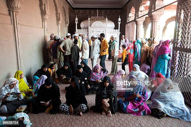 Muslim women pray at the Jama Masjid mosque in New Delhi India on Wednesday June 24 2009 India should cut interest rates rather than boost government...