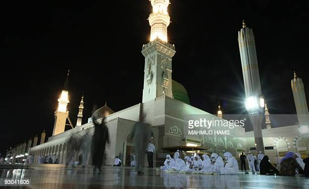 Muslim women pray in the courtyard of the Prophet Mohammed Mosque in the Saudi holy city of Medina on November 13 2009 More than three million...
