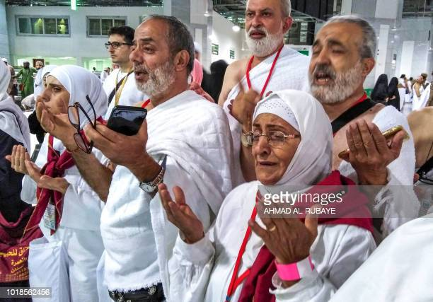 Muslim worshippers perform prayers around the Kaaba Islam's holiest shrine at the Grand Mosque in Saudi Arabia's holy city of Mecca on August 17 2018...