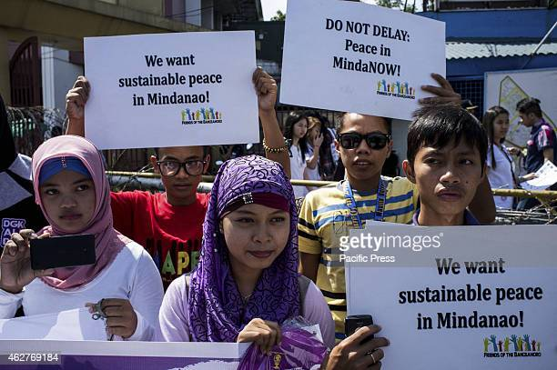 MANILA PHILIPPINES MANILA PHILIPPINES Muslim youths conduct protest in Mendiola to call for peace in Mindanao