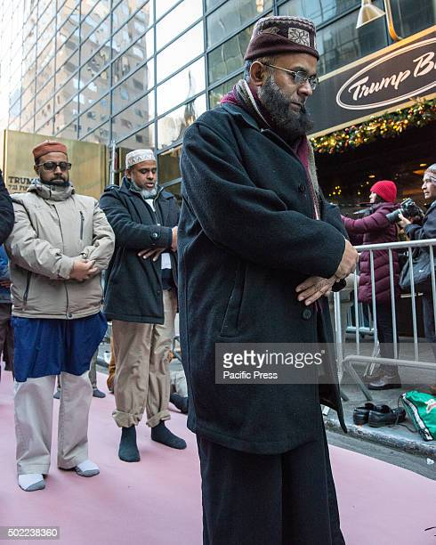 MuslimAmerican men from a local mosque pray in front of Trump Tower Several hundred demonstrators rallied outside of Trump Tower at East 56th Street...