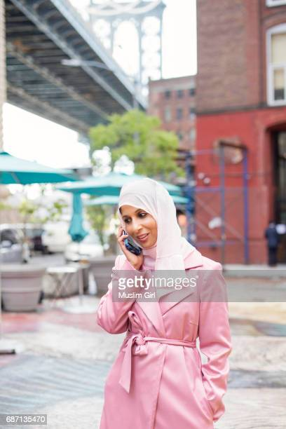 #MuslimGirl Answering a Phone Call
