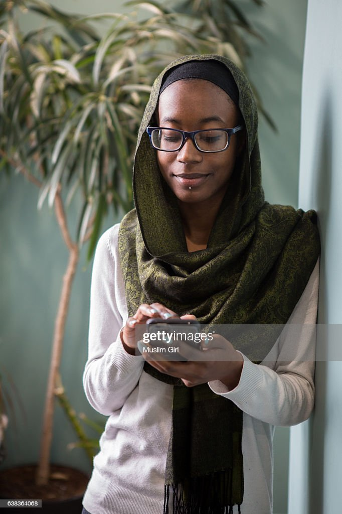 #MuslimGirl at work : Stock Photo