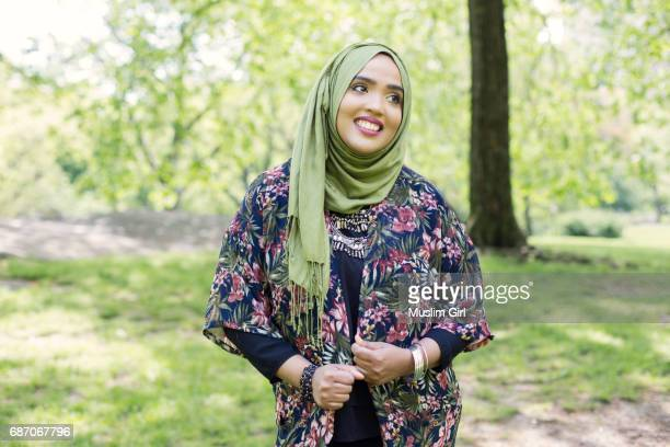 #muslimgirl embracing spring - muslimgirlcollection stock pictures, royalty-free photos & images