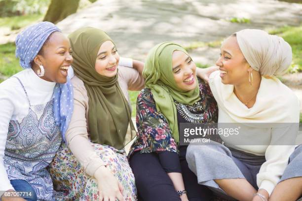 #muslimgirl laughing out loud - muslimgirlcollection stock pictures, royalty-free photos & images