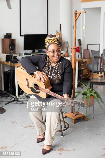 #MuslimGirl With An Acoustic Guitar