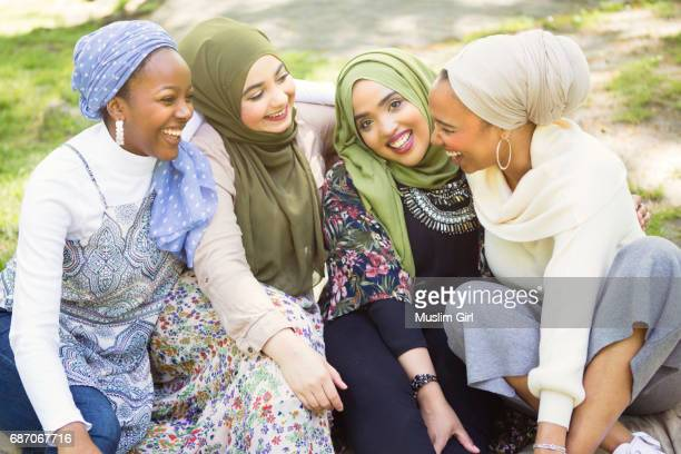 #MuslimGirls Hanging Out At The Park