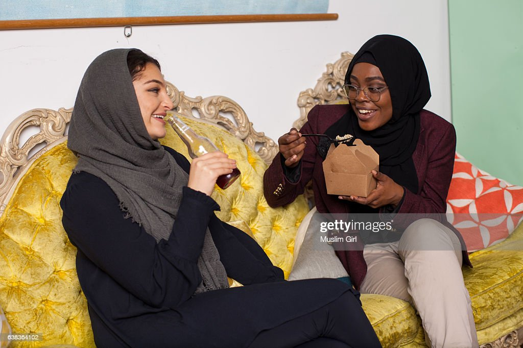 #MuslimGirls Hanging Out : Stock Photo