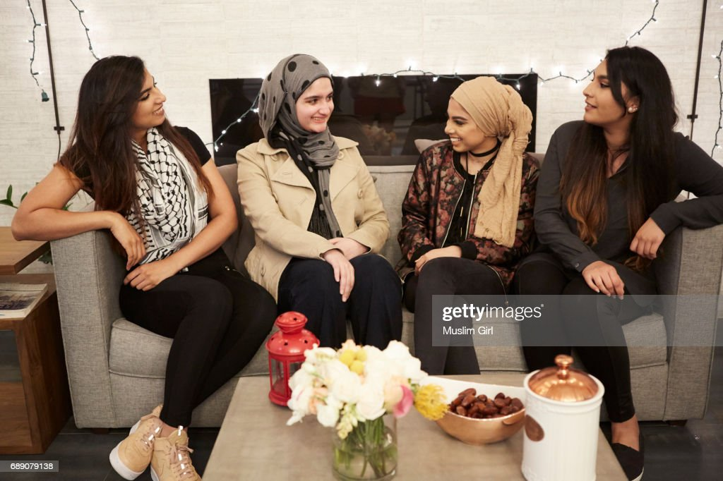 #MuslimGirls Iftar for Ramadan - Hanging Out : Stock Photo