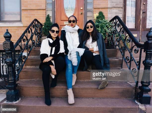 #MuslimGirls Sitting on a Stoop