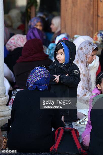 Muslims attend a religious ceremony commemorating the birth of Muslims' beloved Prophet Muhammed known in Arabic as Mawlid alNabi at Zaytuna Mosque...