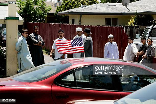 Muslims attend afternoon Friday prayers at the Muslim Mosque on June 10 2005 in Lodi California Lodi the sleepy Northern California town has been hit...
