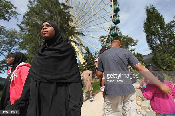 Muslims attend the Great Muslim Adventure Day at Six Flags Great Adventure amusement park on September 16 2011 in Jackson New Jersey Thousands of...