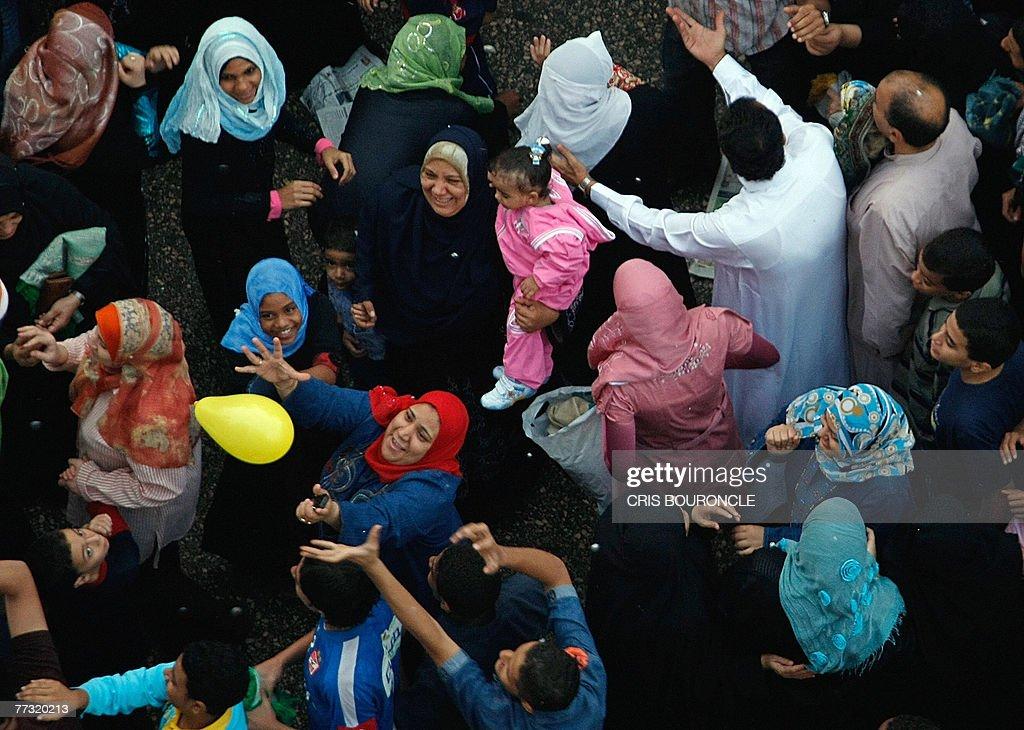 Muslims celebrate following a special da : News Photo