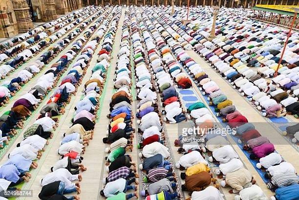 Muslims celebrating Eid alFitr which marks the end of the month of Ramadan Eid alFitr is the end of Ramazan and the first day of the month of Shawwal...