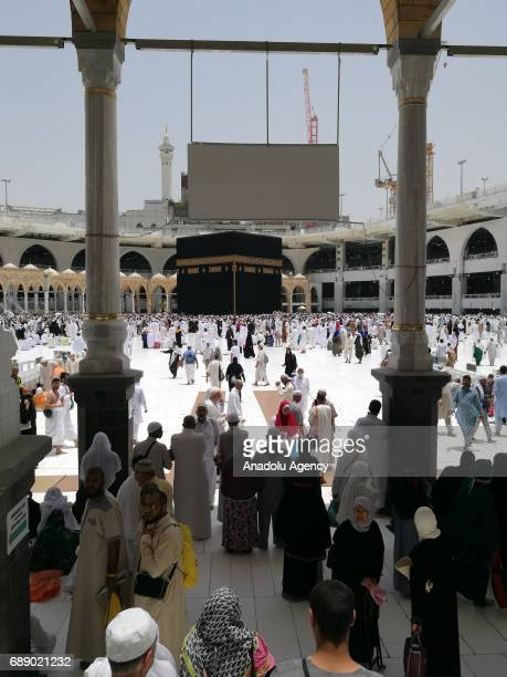 Muslims circumambulate around the Kaaba during first day of the Islamic holy month of Ramadan at Masjid alHaram in Mecca Saudi Arabia on May 27 2017