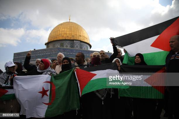 Muslims hold a protest against US President Donald Trumps announcement to recognize Jerusalem as the capital of Israel and plans to relocate the US...