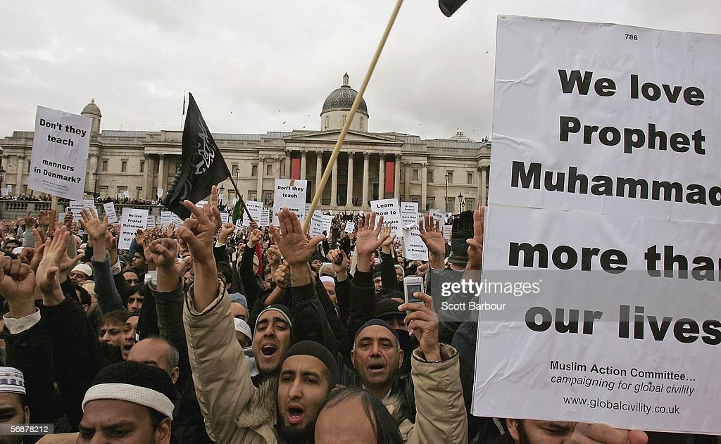 Image result for trafalgar square muslim protest