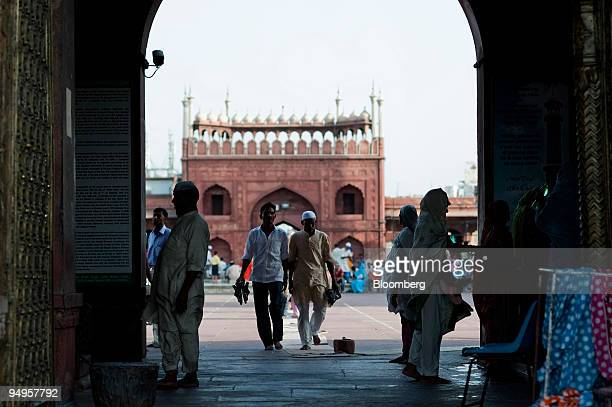 Muslims leave after afternoon prayers at the Jama Masjid mosque in New Delhi India on Wednesday June 24 2009 India should cut interest rates rather...
