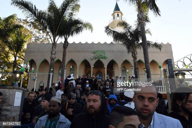 Muslims leaves Lakemba mosque after Eid alAdha prayer in Sydney on September 1 2017 Muslims living in Australia celebrating Eid alAdha the 'Feast of...
